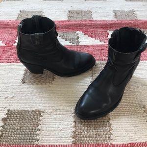 Frye black booties, sz 7